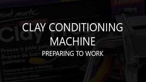 First using and preparing to work with clay conditioning machine